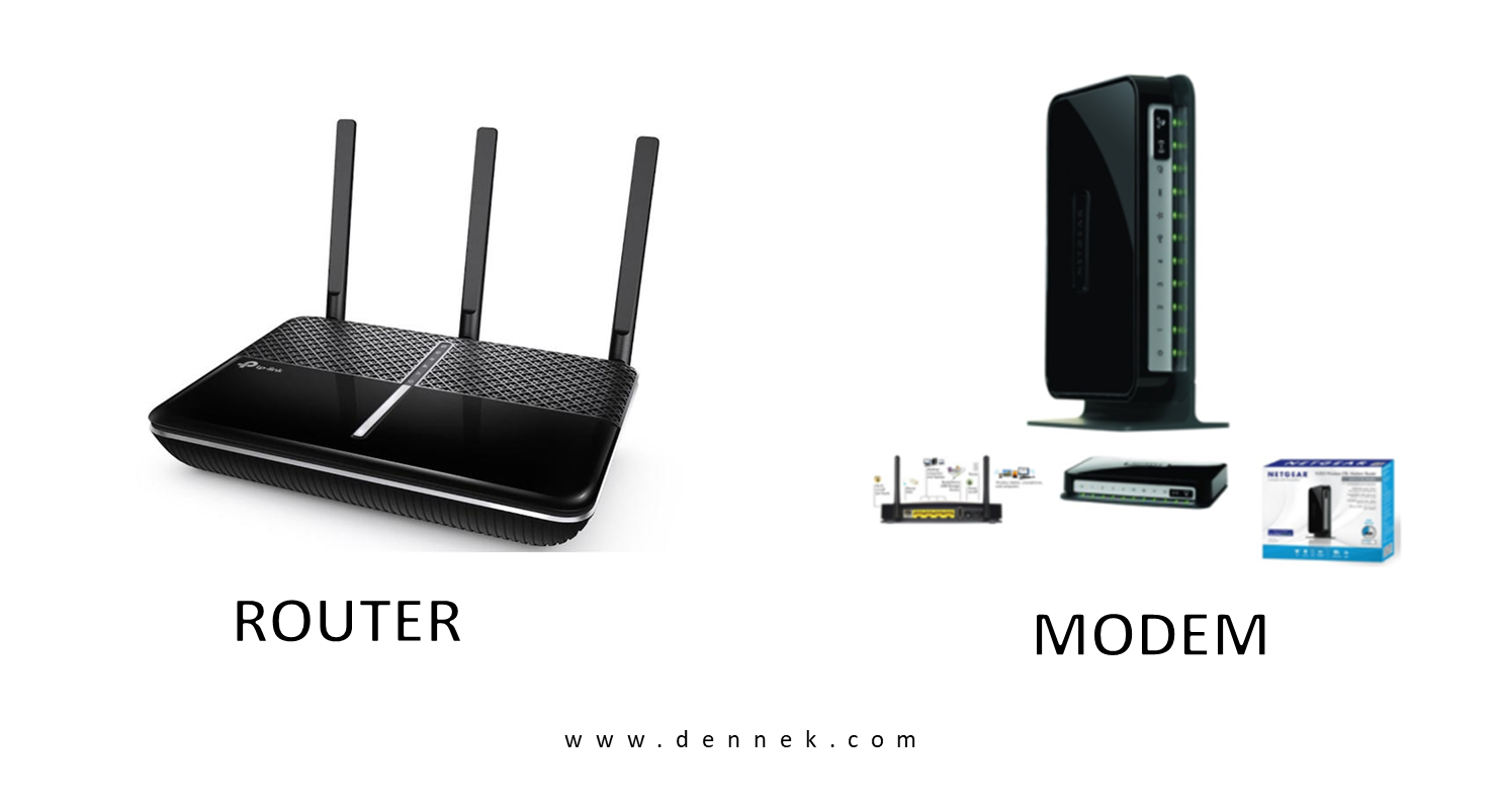 Difference Between Router and Modem   Router Vs Modem   Dennek